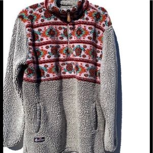 SIMPLY SOUTHERN Quarter-Zip Turtle Sherpa Pullover